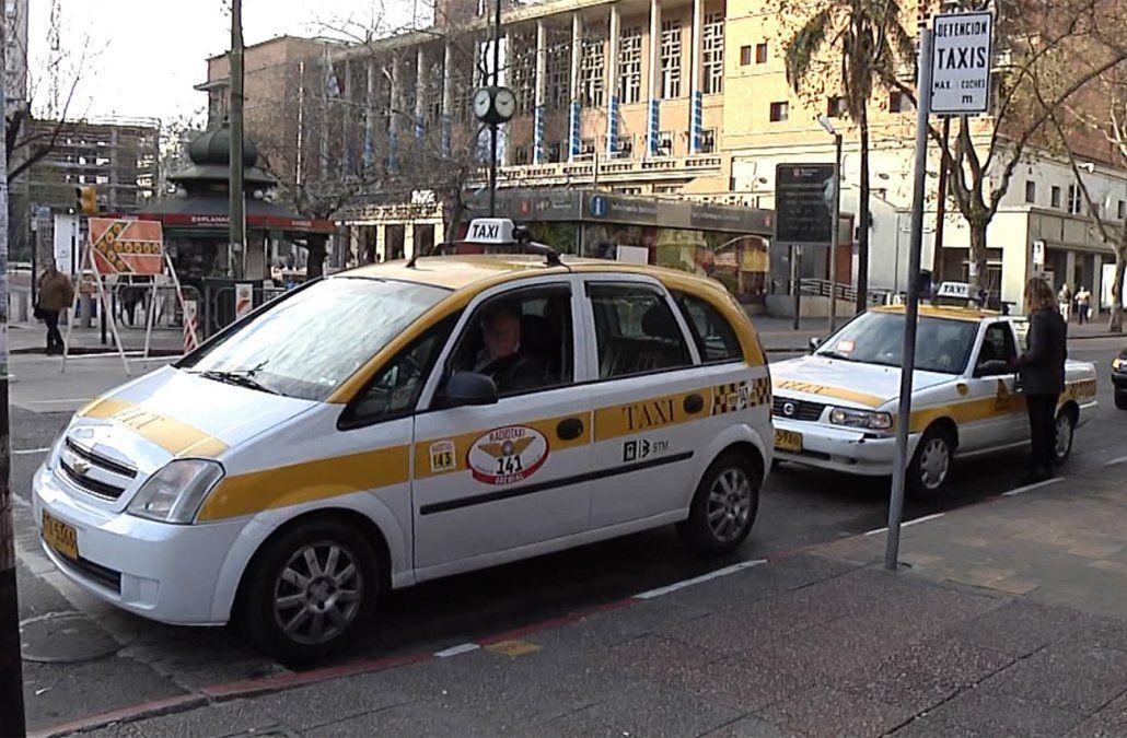 Paro del taxi por trabajador baleado en intento de rapiña