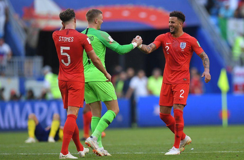 Inglaterra derrotó 2-0 a Suecia y está entre los cuatro mejores del mundo