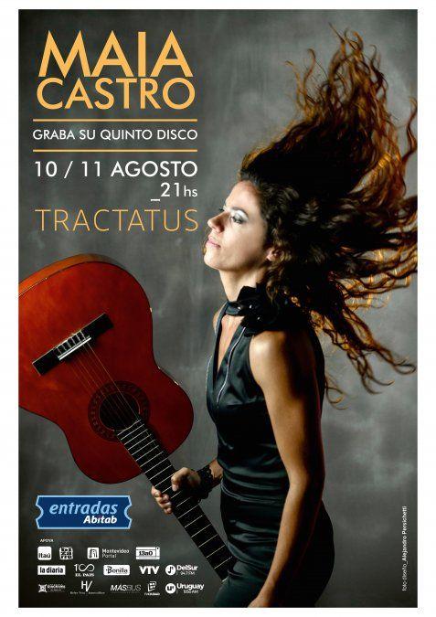 Maia Castro dará dos show en Tractatus Teatro y grabará allí su próximo álbum