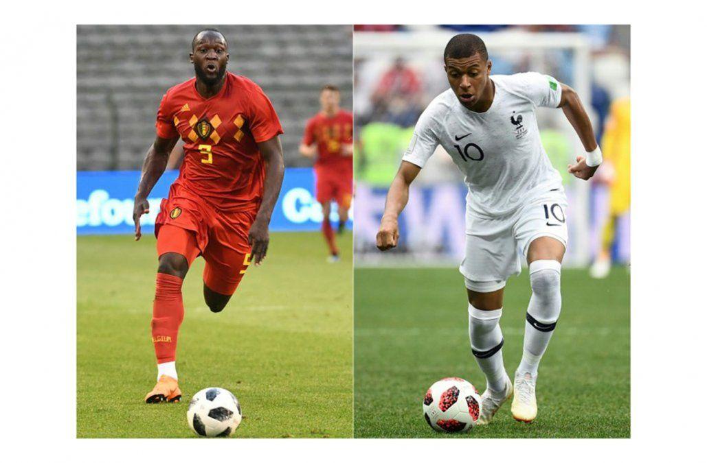 Lukaku y Mbappé