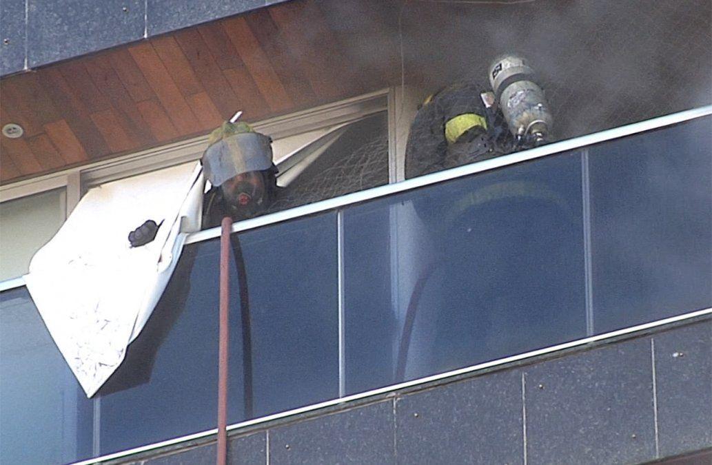 Incendio en un edificio de Malvín generó pánico esta mañana