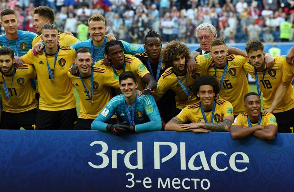 Bélgica logra un histórico tercer puesto; Croacia y Francia preparan la batalla final