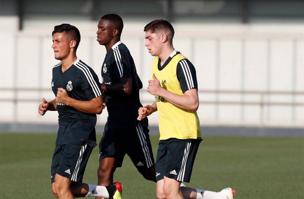 Pajarito Valverde volvió a entrenar con el Real Madrid pedido por el DT