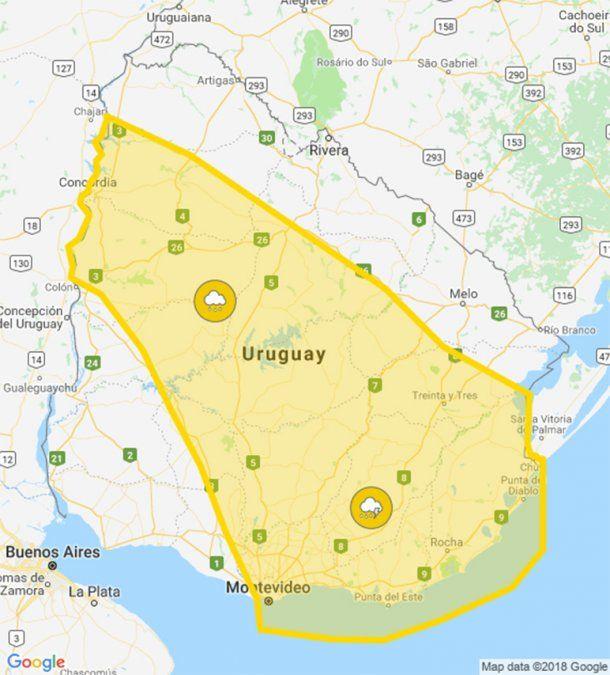 Nueva alerta amarilla por persistencia de tormentas y mucha lluvia