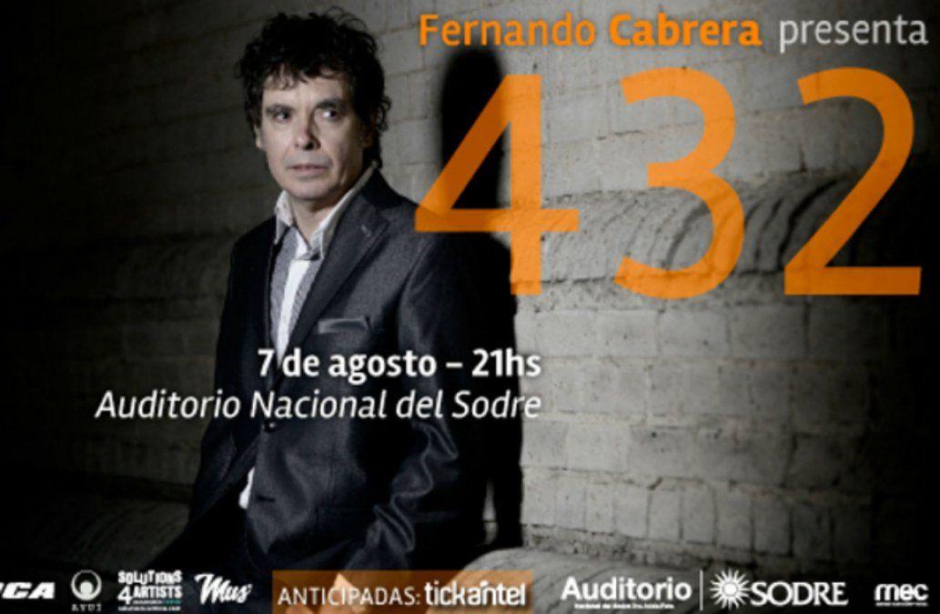 Fernando Cabrera presenta en vivo su ultimo disco 432