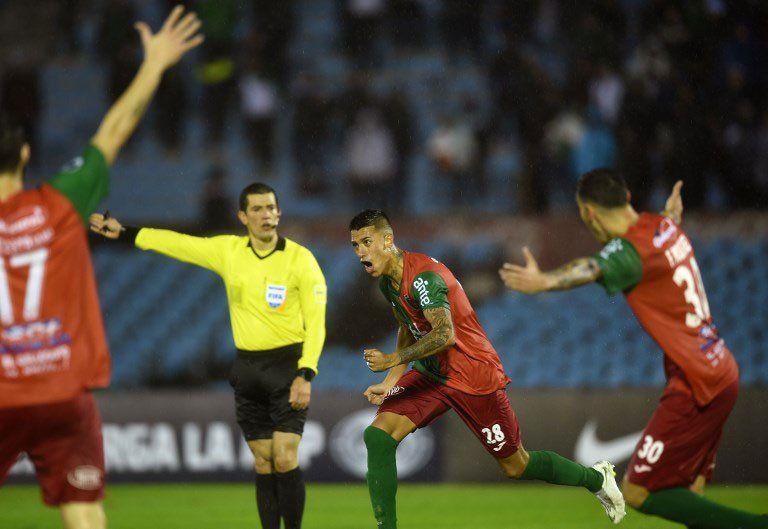 Ergas festeja si gol convertido a los 62 de juego. Los de Apud muestran que son competitivos en el ámbito internacional.