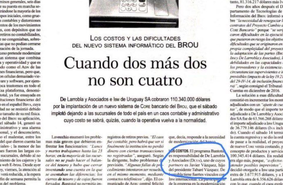 El informe del semanario Brecha que llamó la atención de la oposición.