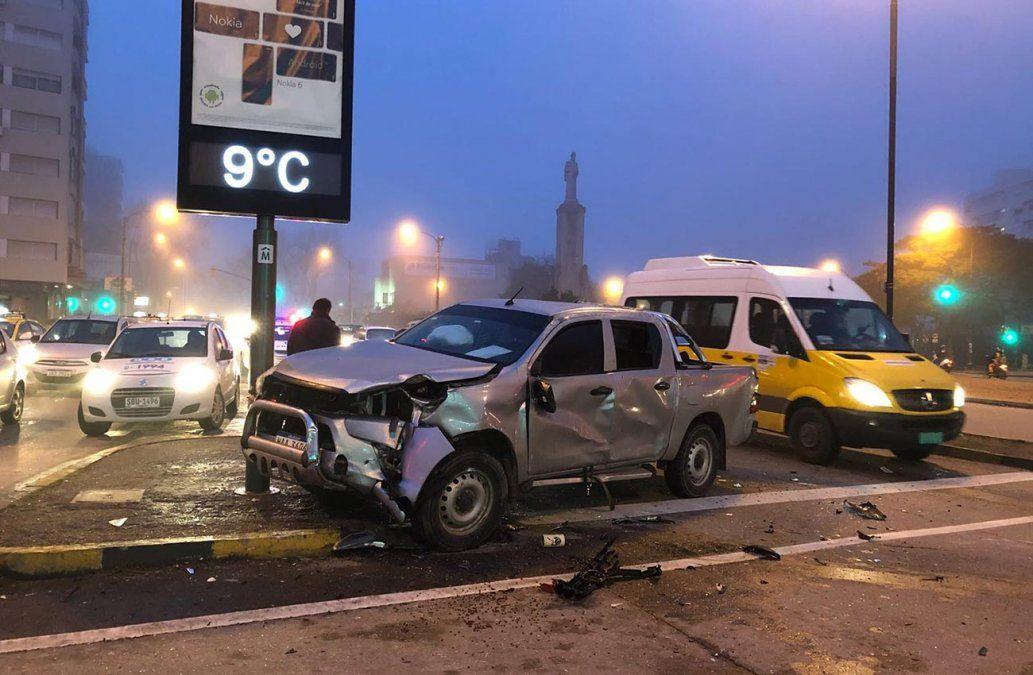 Accidente dejó dos personas lesionadas en La Blanqueada