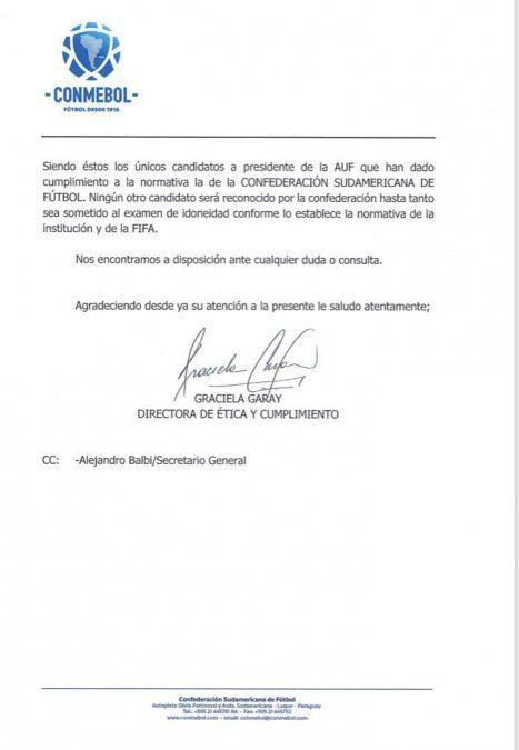 Del Campo y Abulafia aún no están habilitados por la Conmebol