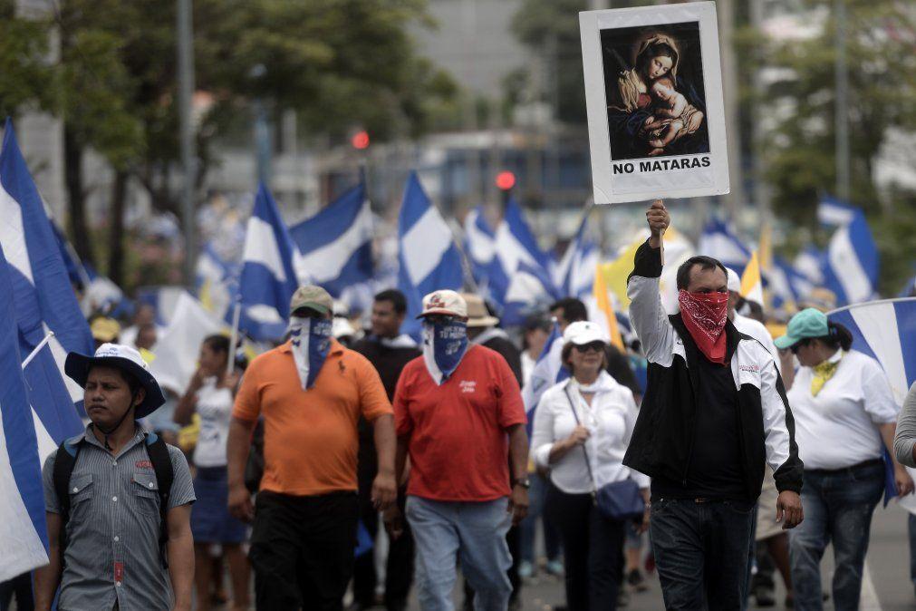 60 personas encausadas como terroristas por participar en protestas en Nicaragua
