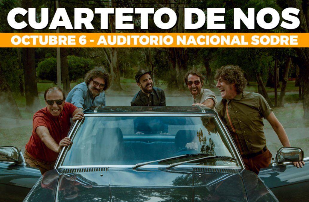 Cuarteto de Nos vuelve a Montevideo con un show imperdible
