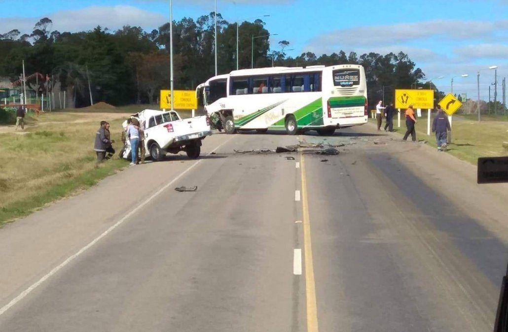 Siniestro fatal en ruta 5 al chocar de frente una camioneta con un ómnibus