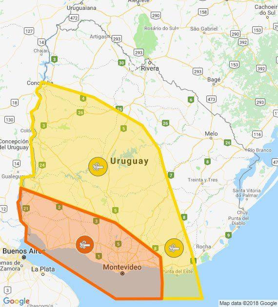 Rige advertencia naranja y amarilla por vientos muy fuertes y constantes