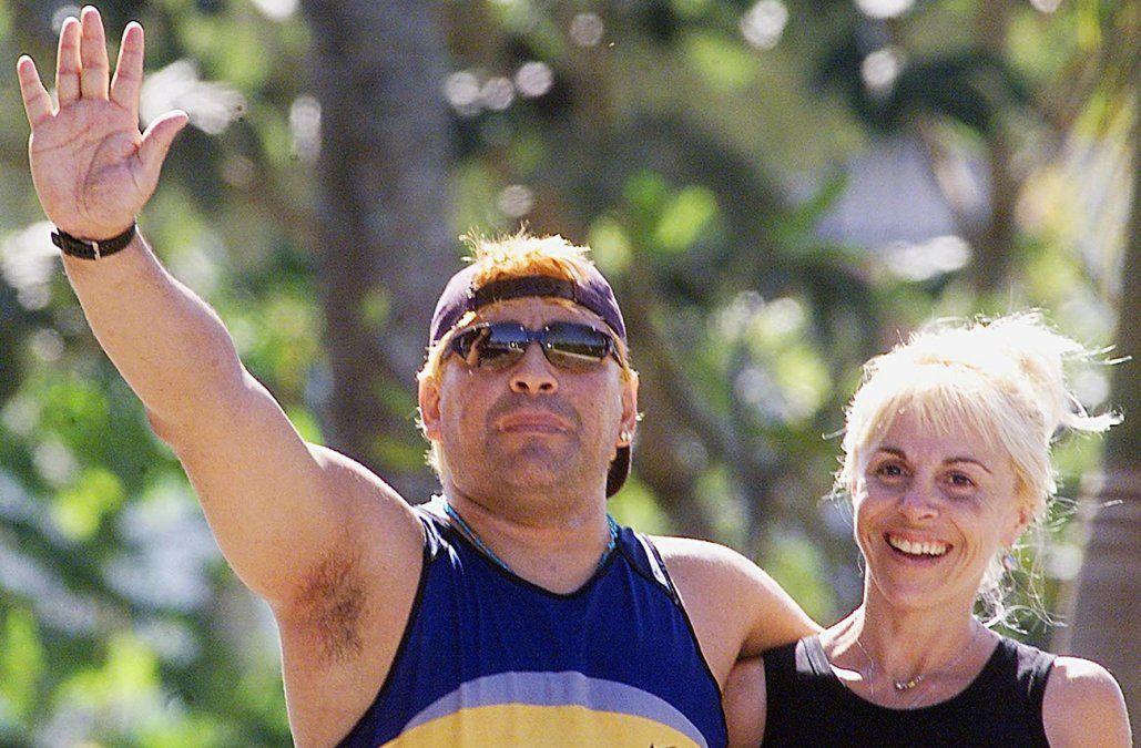 Diego Maradona y Claudia Villafañe en otros tiempos.