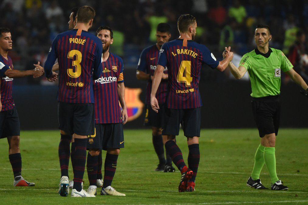 Barcelona ganó la Supercopa de España con Suárez de titular