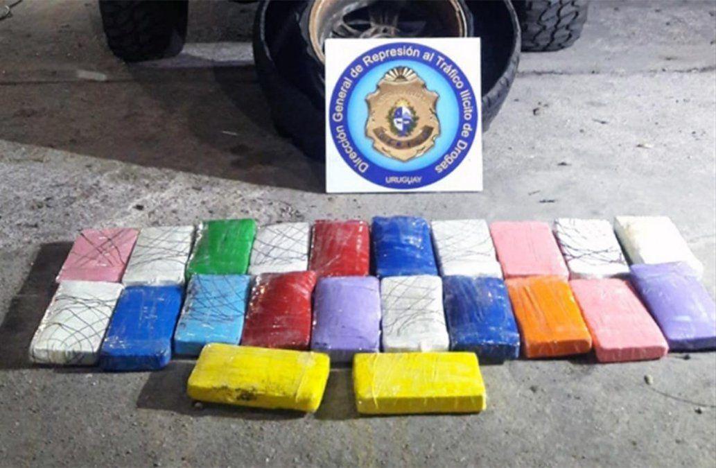 Dos paraguayos detenidos con 23 kilos de droga; la llevaban en la rueda auxiliar