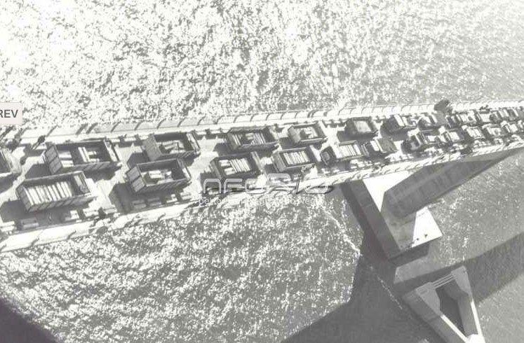 Las pruebas en el puente San Martín en 1976: camiones cargados con bloques de hormigón