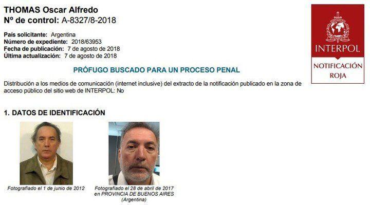 Gobierno argentino lanza recompensa por último prófugo de cuadernos de la corrupción