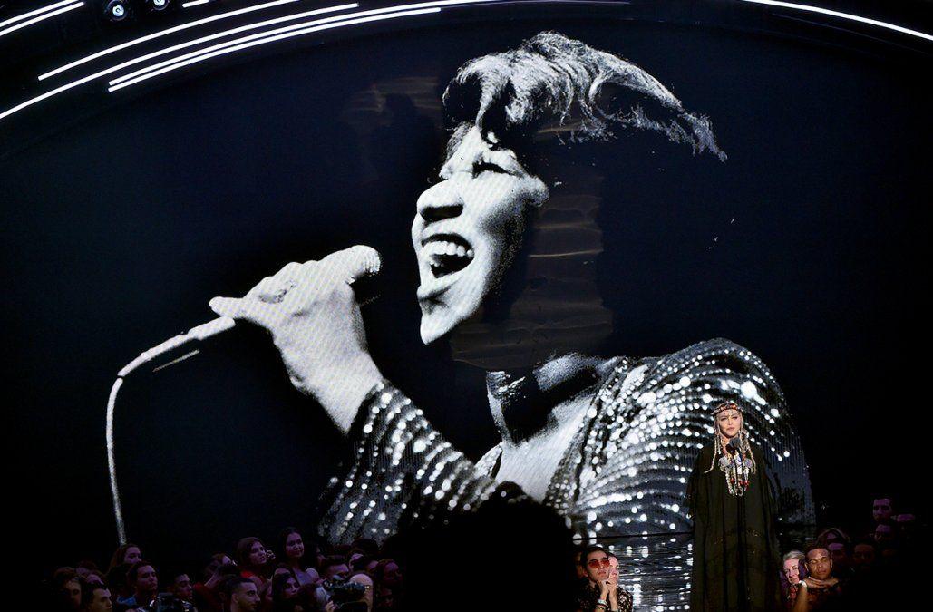 Madonna lideró tributo a Aretha Franklin en los MTV Video Music Awards