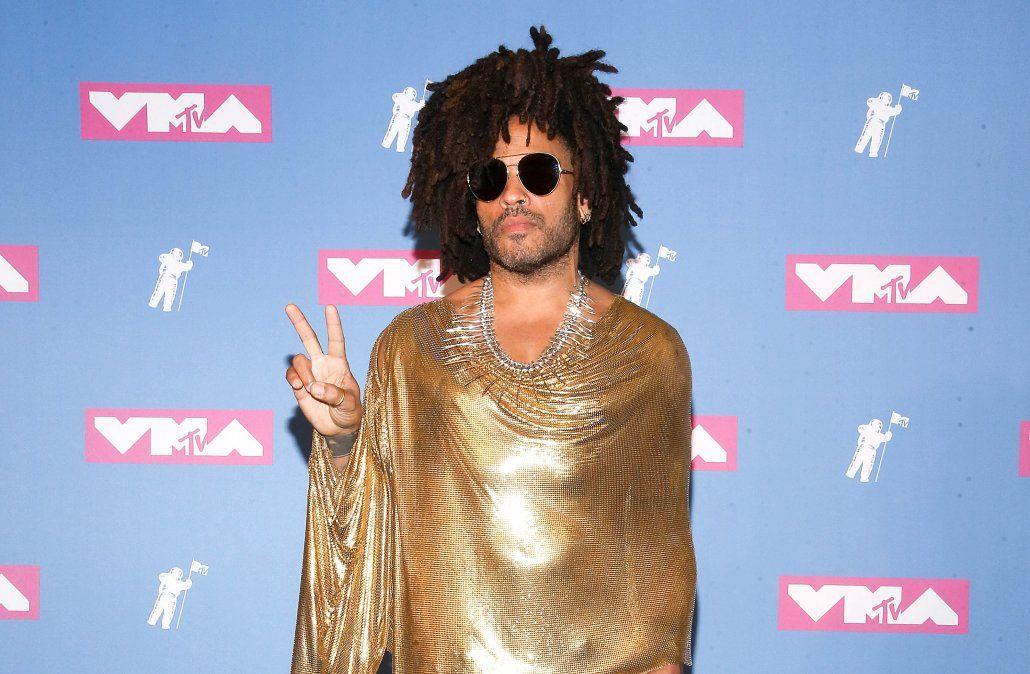 Lenny Kravitz en la pink carpet de los MTV Video Music Awards 2018