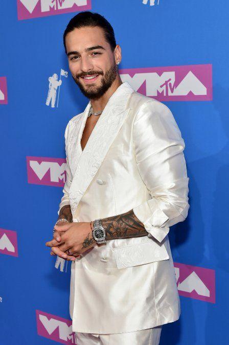 Maluma en la pink carpet de los MTV Video Music Awards 2018