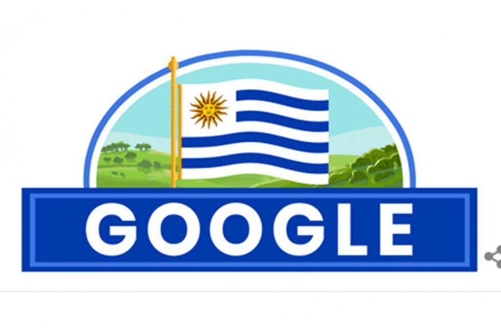 Google dedicó su Doodle a Independencia de Uruguay