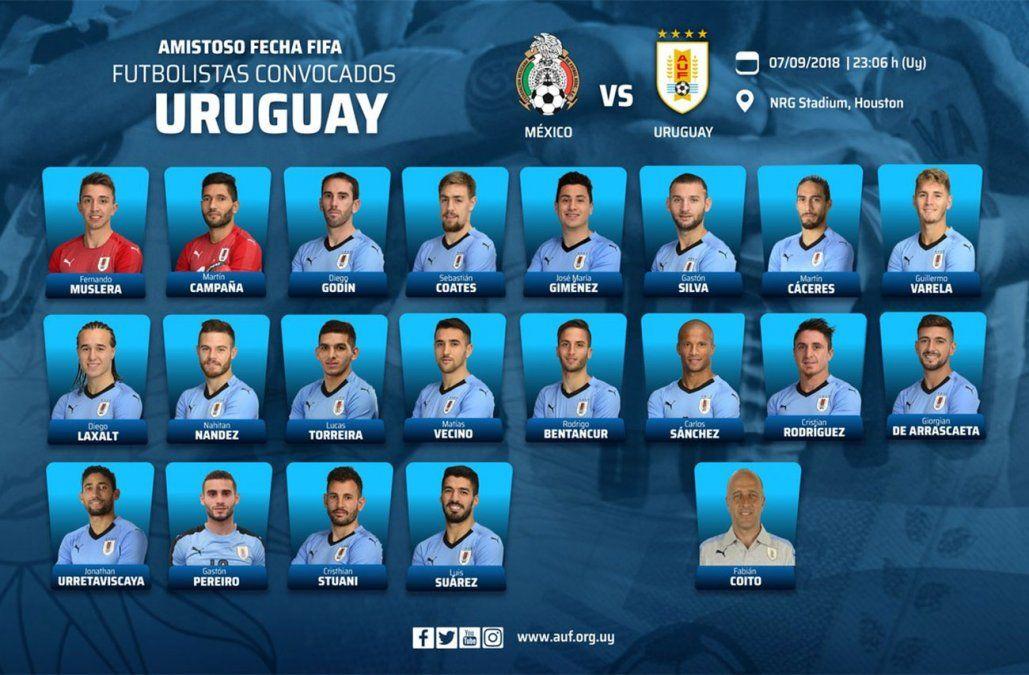 Con Suárez y sin Cavani, convocatoria de Uruguay ante México