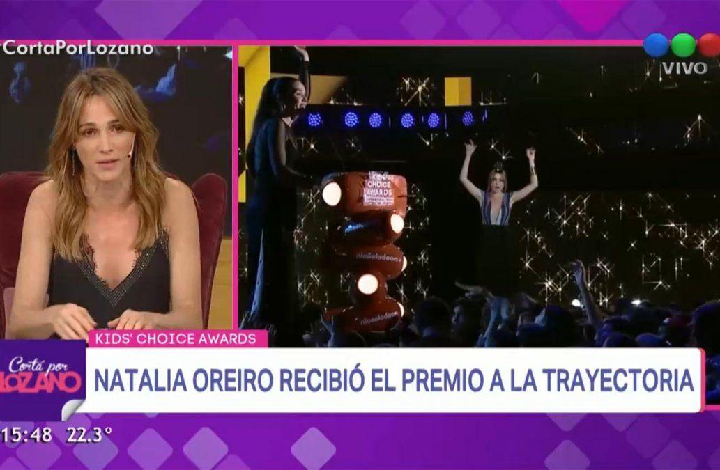 Natalia Oreiro indignada tras su caída en los Kids Choice: me podría haber matado