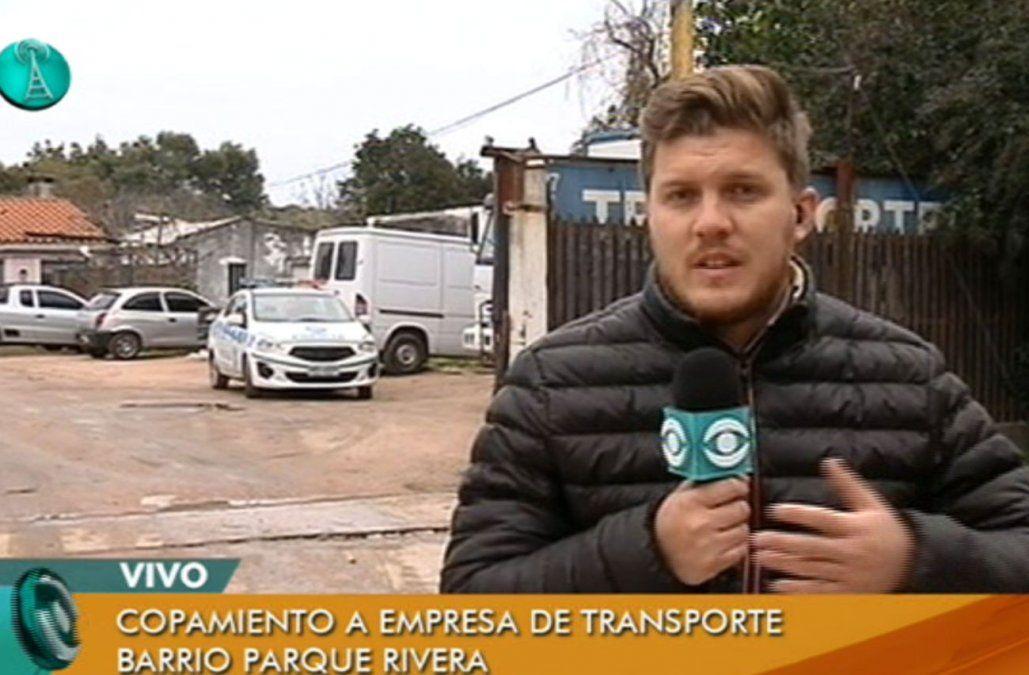 Rapiña en empresa de transporte en Parque Rivera