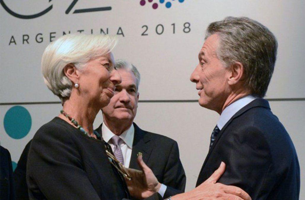 Christine Lagarde del FMI y Mauricio Macri en tensas negociaciones.