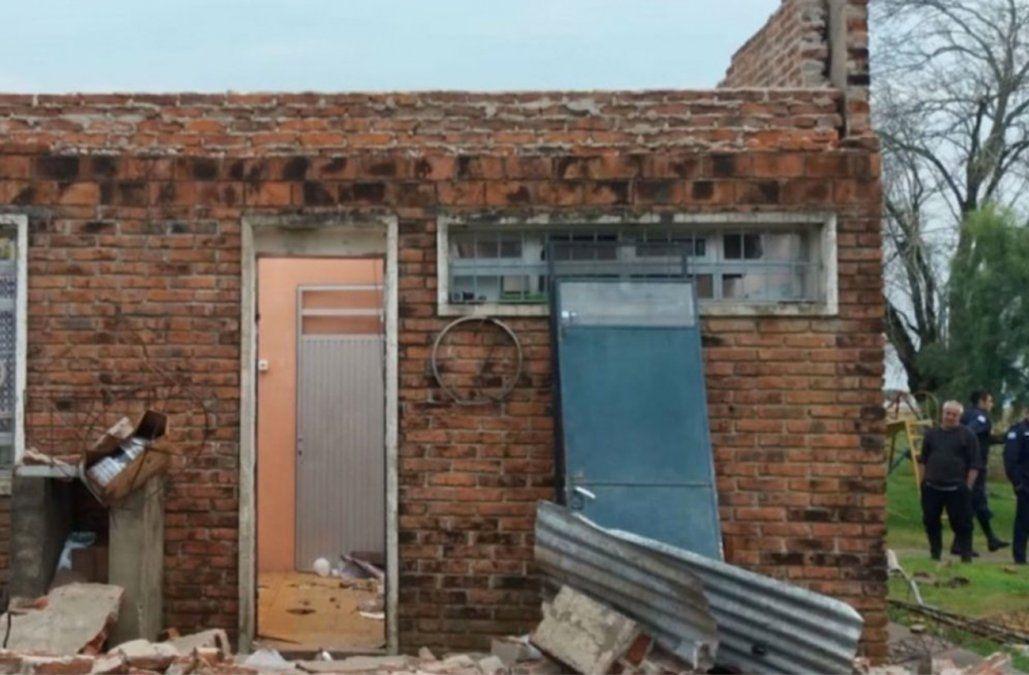 Violento fenómeno localizado arrasó una escuela rural en Paysandú