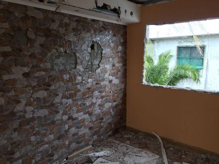 Demolieron la lujosa casa que ocupaba La Moni, la líder de Los Chingas en Casavalle