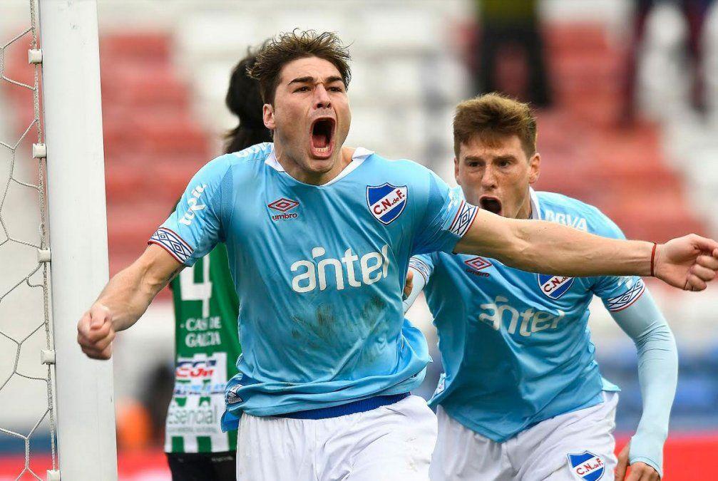 Rafa Garcia convierte el tanto de la victoria para Nacional
