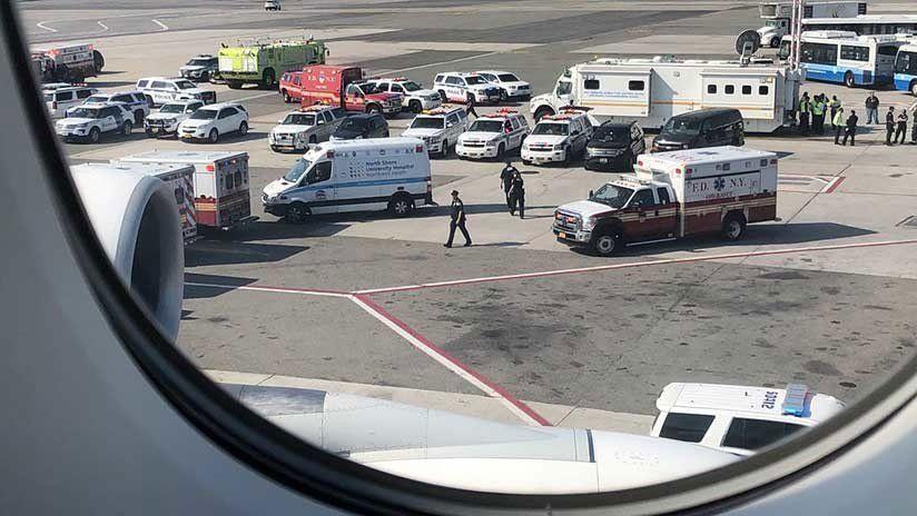 Cuarentena para pasajeros que enfermaron en un vuelo Dubai-Nueva York