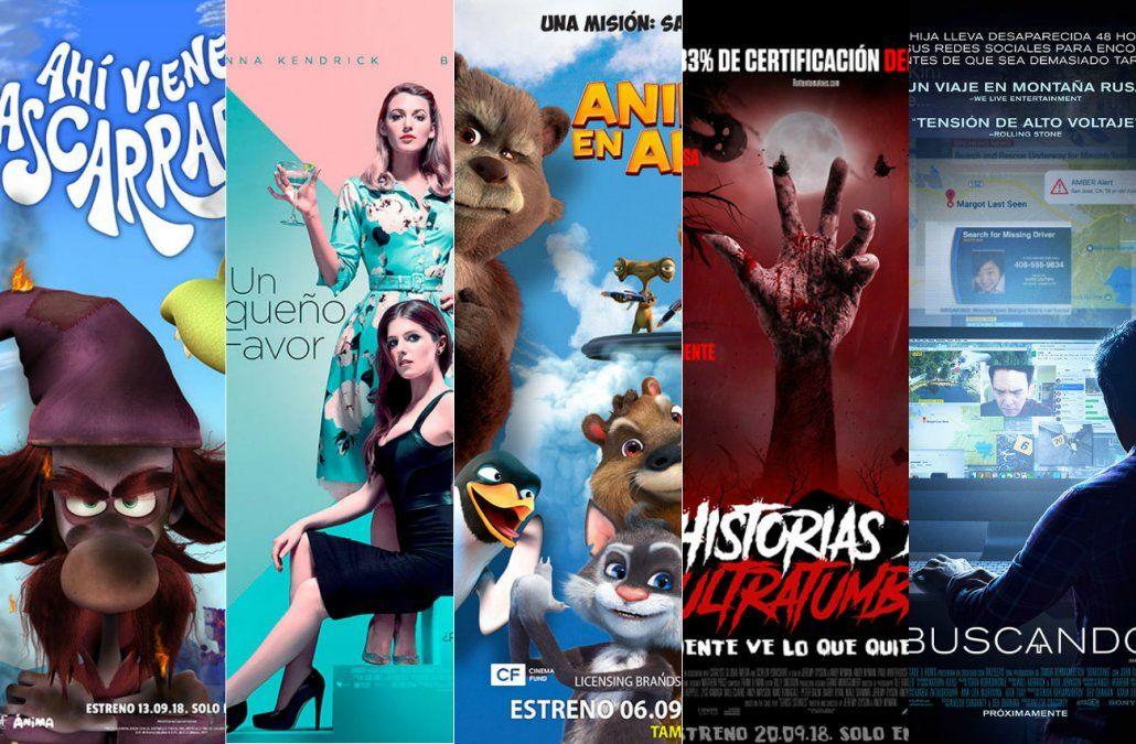 Te presentamos los principales estrenos de cine de setiembre