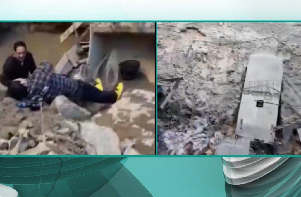 Imágenes muestran instantes después del accidente que dejó a 9 obreros heridos