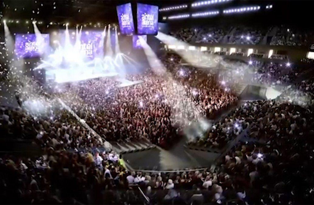 En noviembre se inaugura el Antel Arena con tres recitales y partidos de básquetbol