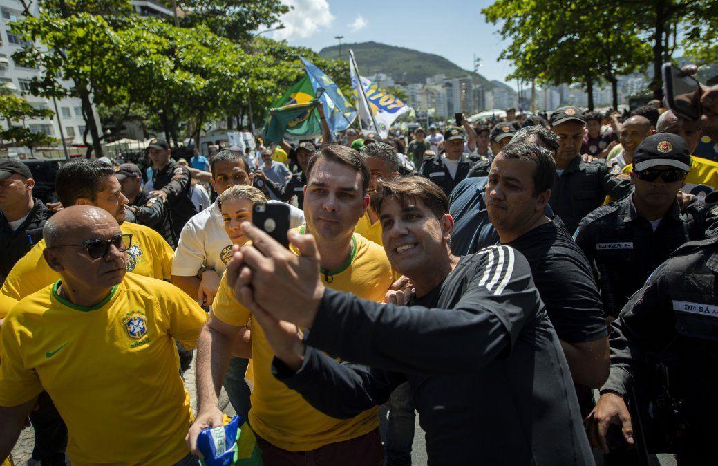El diputado Flavio Bolsonaro