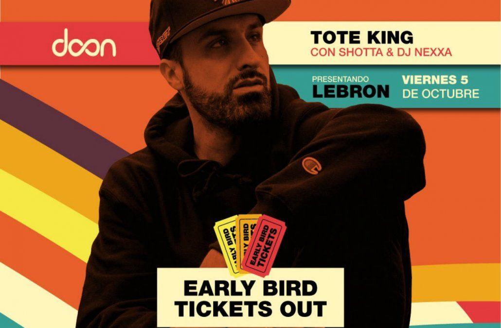En octubre Tote King se presenta en Uruguay
