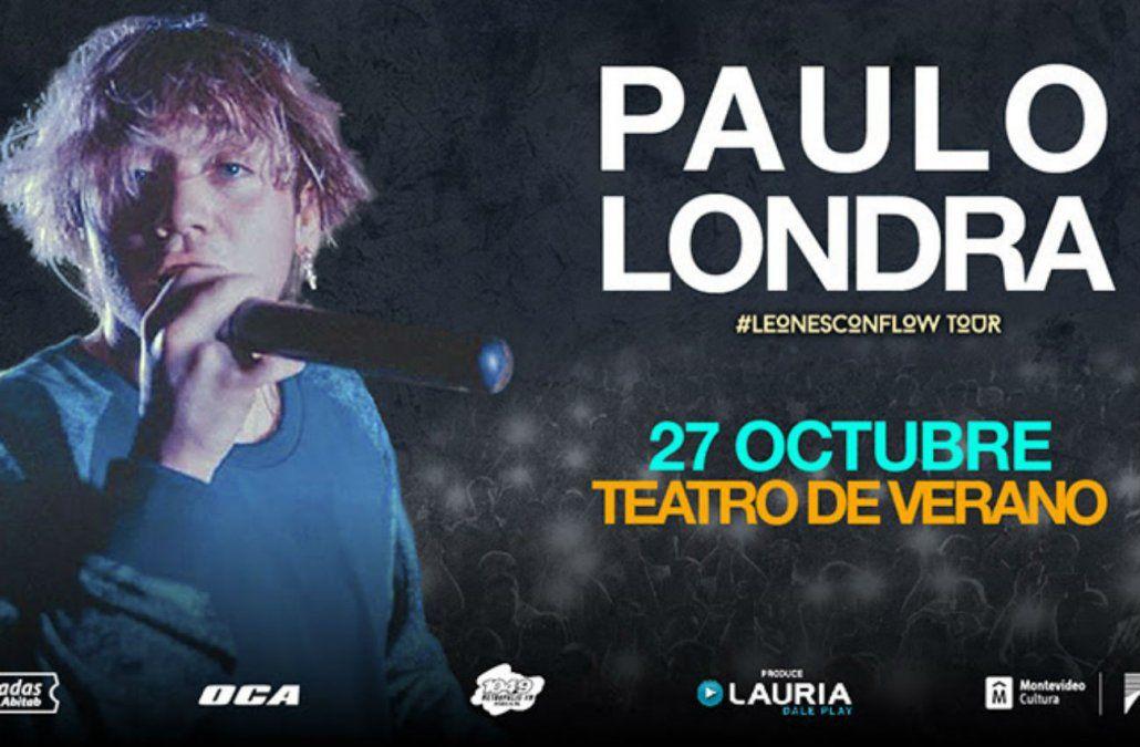 Paulo Londra presenta en Uruguay #LeonesConFlowTour