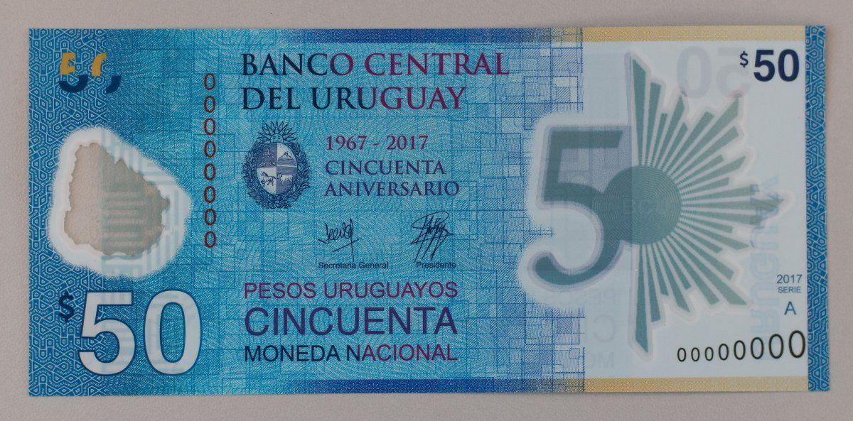 Presentaron el nuevo billete de 50 pesos que parece de plástico o nailon
