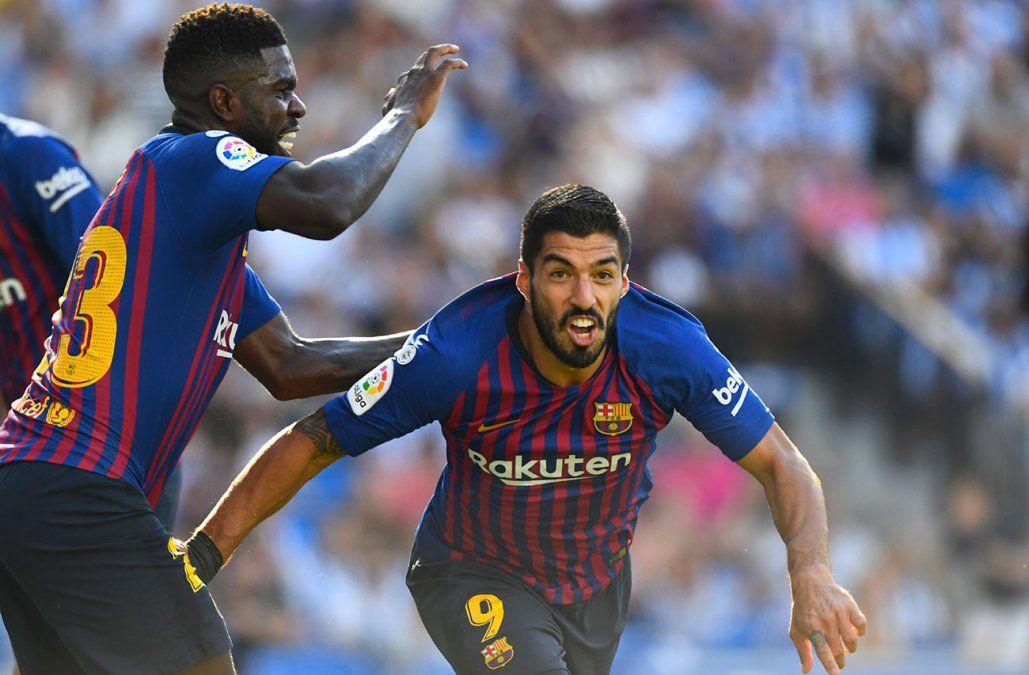 Suárez marcó un gol en la remontada del Barcelona ante la Real Sociedad