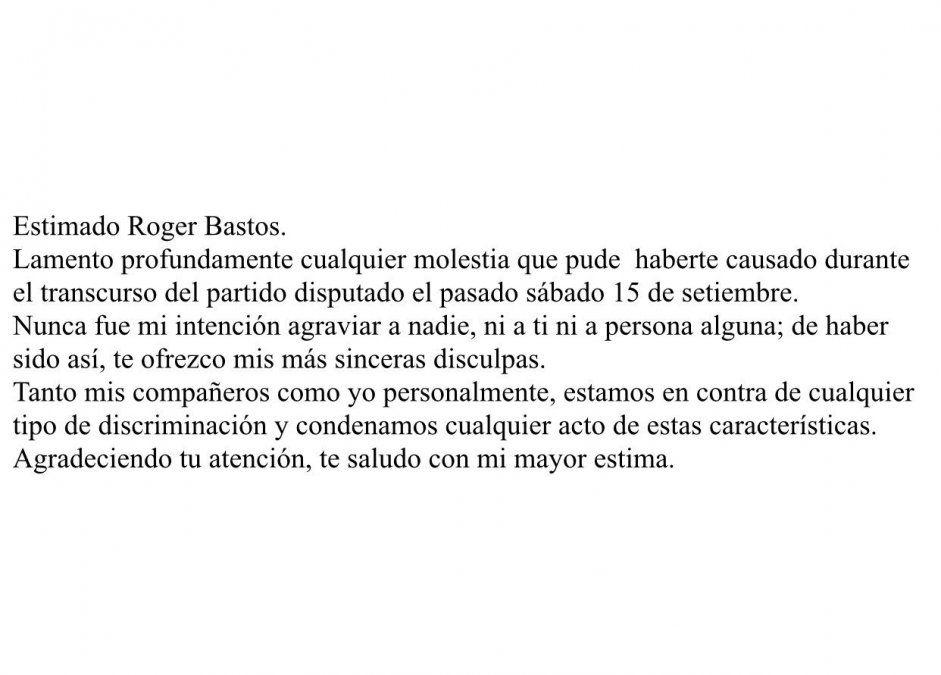 Jugador de Juventud pidió disculpas y dijo que no quiso discriminar a colega de Cerro Largo