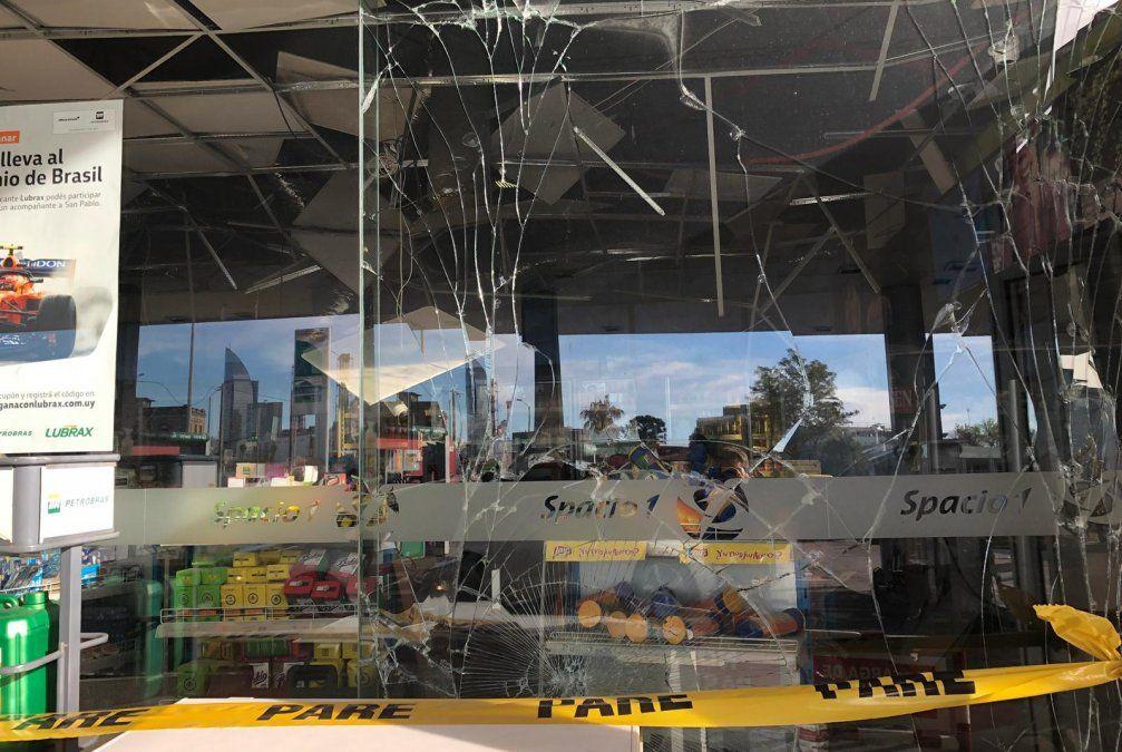 Explotaron un cajero automático dentro de una estación de servicio