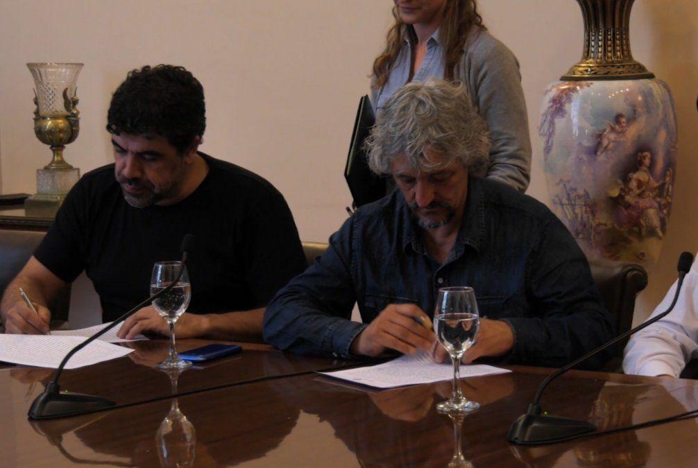El SUNCA firmó acuerdo con la IM para trabajar en 5 municipios de la periferia