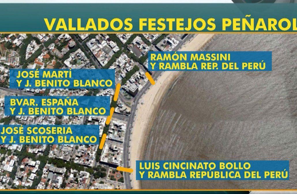 Operativo de seguridad por aniversario de Peñarol desde las 20 horas