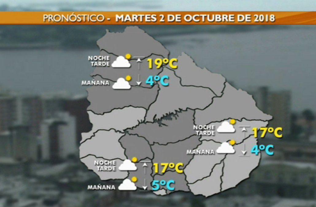 Martes frío con mínima de 5ºC en la capital