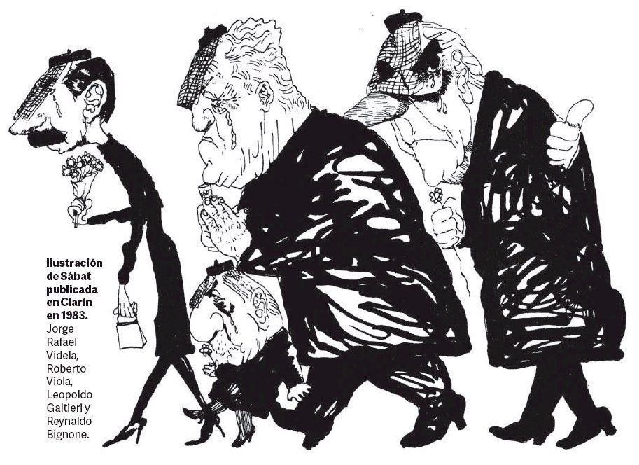 Clarín 1983. Los dictadores Videla