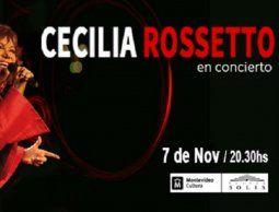 Cecilia Rossetto en concierto, en el Teatro Solís