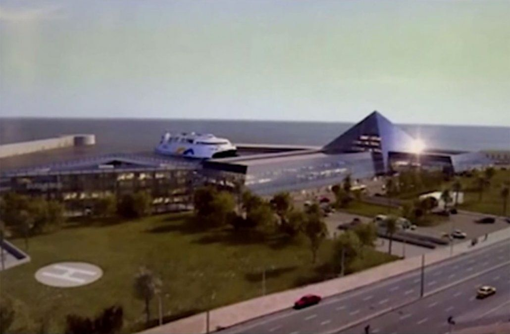 FOTO: el proyecto de nueva terminal fluvial de Buquebus.